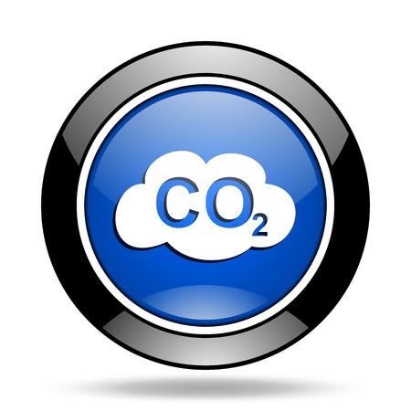 dioxido de carbono: el dióxido de carbono azul brillante del icono