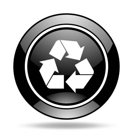 original ecological: recycle black glossy icon