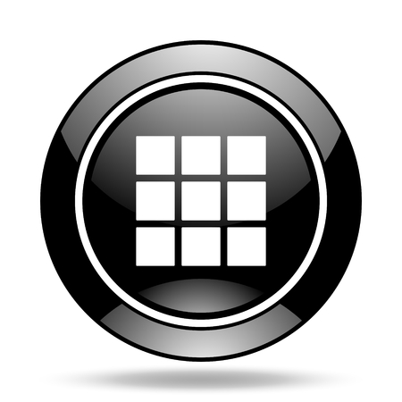 thumbnails: thumbnails grid black glossy icon