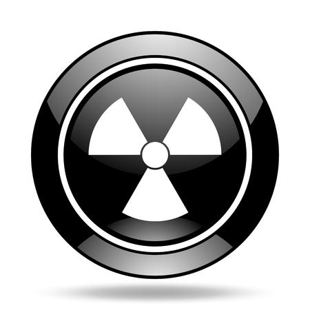 radiacion: la radiación negro brillante icono