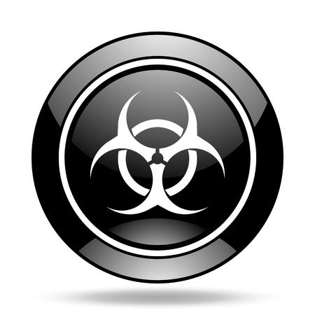 biohazard: biohazard black glossy icon