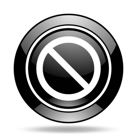 denied: access denied black glossy icon