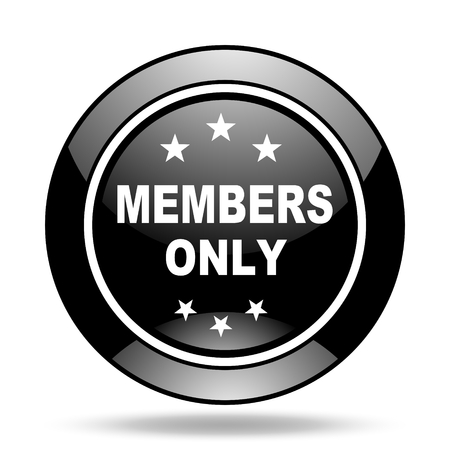 and only: members only black glossy icon