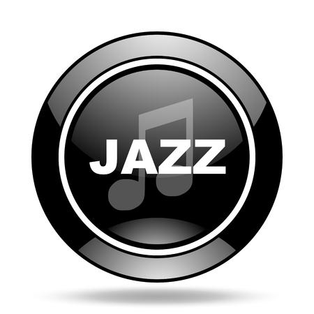 listen live stream: jazz music black glossy icon