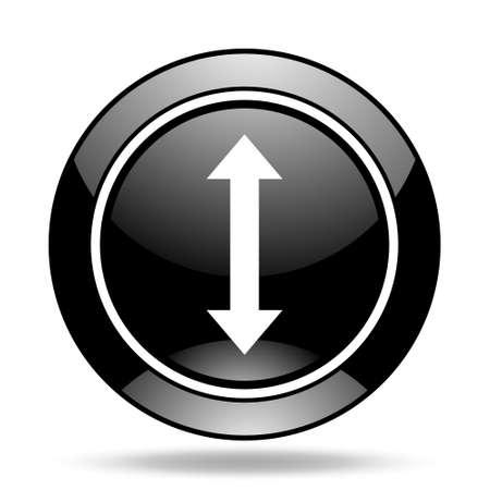 sterring: arrow black glossy icon