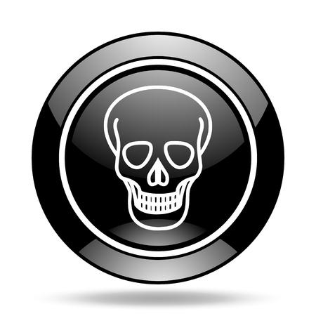 pirating: skull black glossy icon