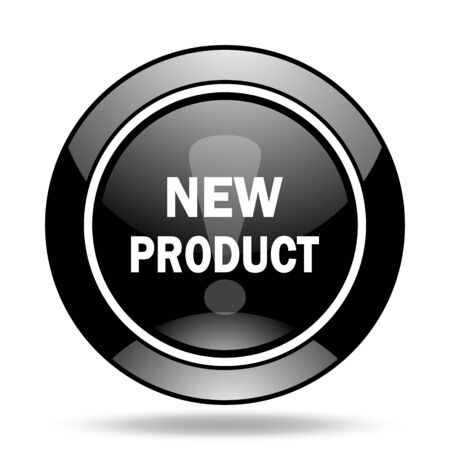 new product: new product black glossy icon