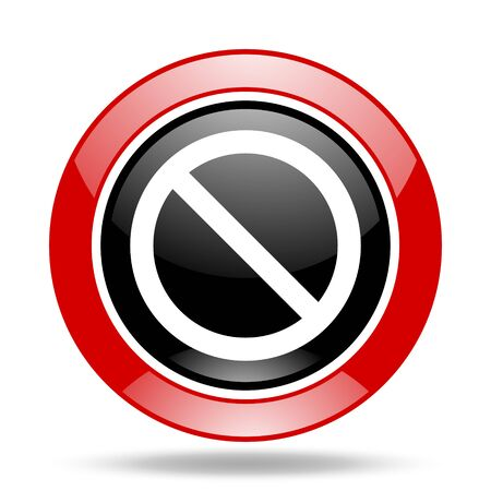 access denied: access denied round glossy red and black web icon