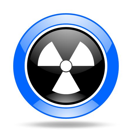 gamma radiation: radiation round glossy blue and black web icon Stock Photo