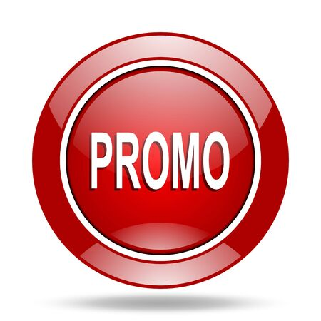 promo: promo round glossy red web icon