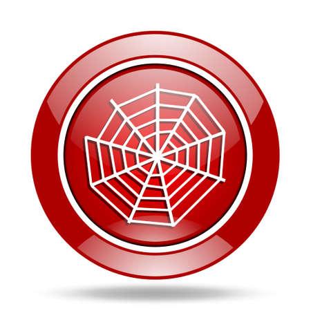 spider web: spider web round glossy red web icon