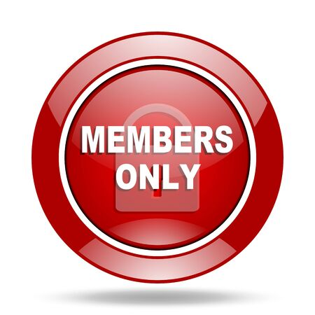 members only: members only round glossy red web icon