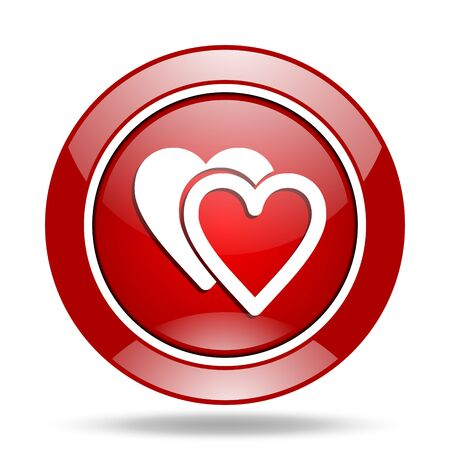 cardiologist: love round glossy red web icon