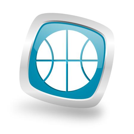 chrome ball: ball square glossy chrome silver metallic web icon
