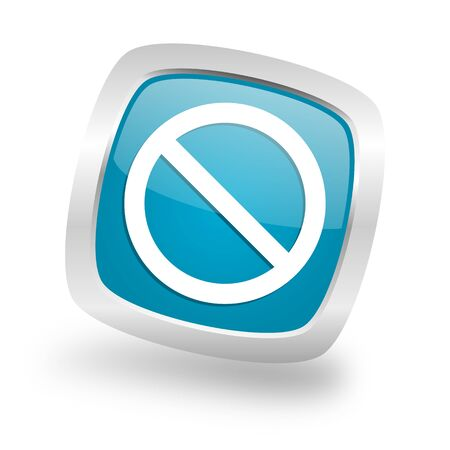 denied: access denied square glossy chrome silver metallic web icon