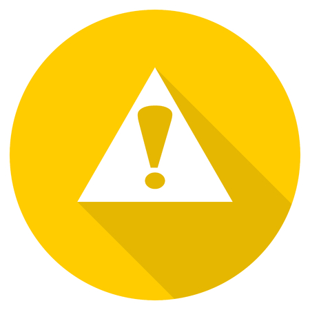 exclamation icon: exclamation sign flat design yellow round web icon