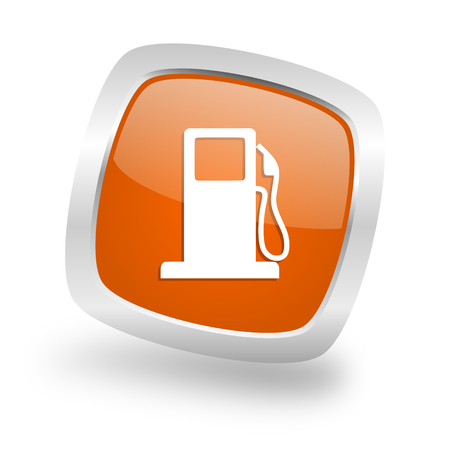 petrol square glossy orange chrome silver metallic web icon