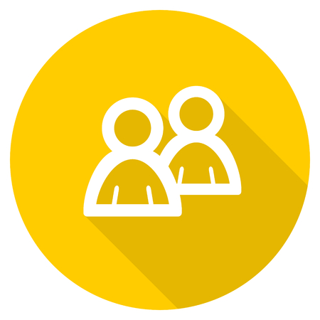 forum flat design yellow round web icon