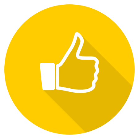 like flat design yellow round web icon