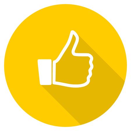 zoals platte ontwerp gele ronde web pictogram Stockfoto