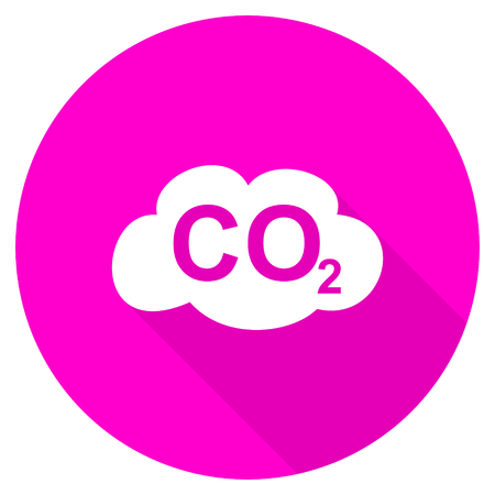dioxide: carbon dioxide flat pink icon