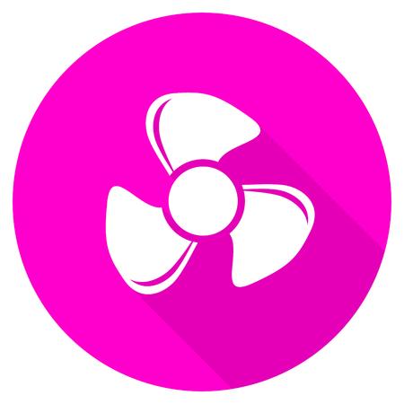 fan flat pink icon Stock Photo