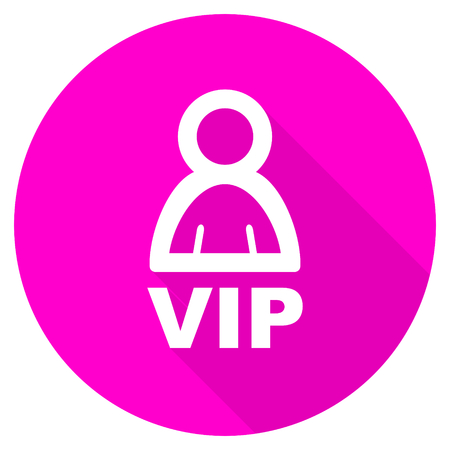 members only: vip flat pink icon