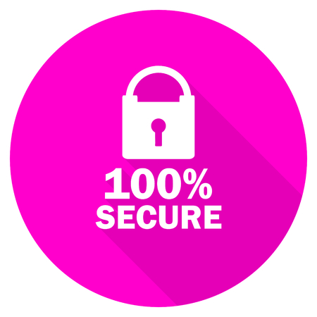 secure: secure flat pink icon