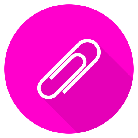 paperclip flat pink icon