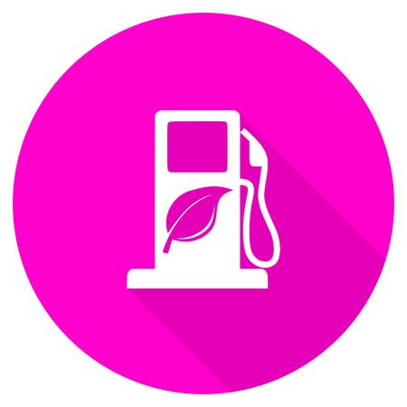 agro: biofuel flat pink icon