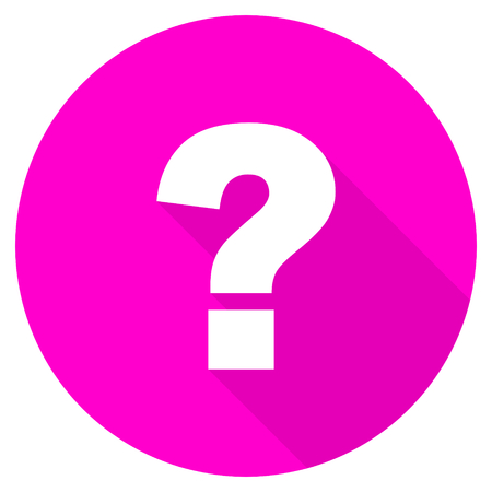 search query: question mark flat pink icon