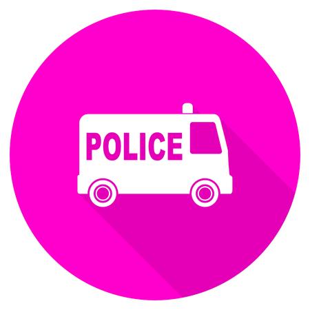 patrolman: police flat pink icon