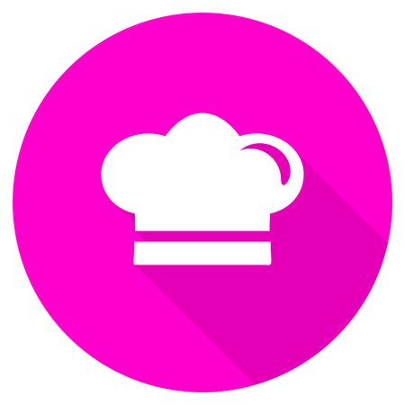 dinner wear: cook flat pink icon Stock Photo