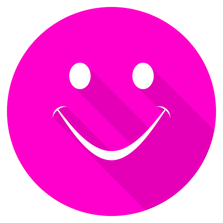 yea: smile flat pink icon