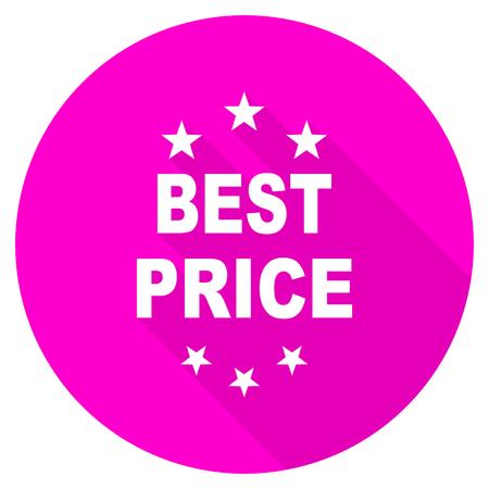 best price: best price flat pink icon Stock Photo