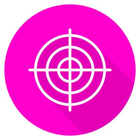 aim: target flat pink icon