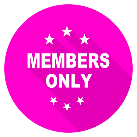 members only: members only flat pink icon
