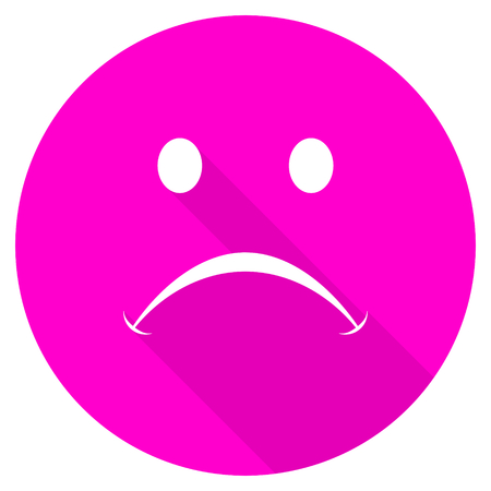 cry flat pink icon