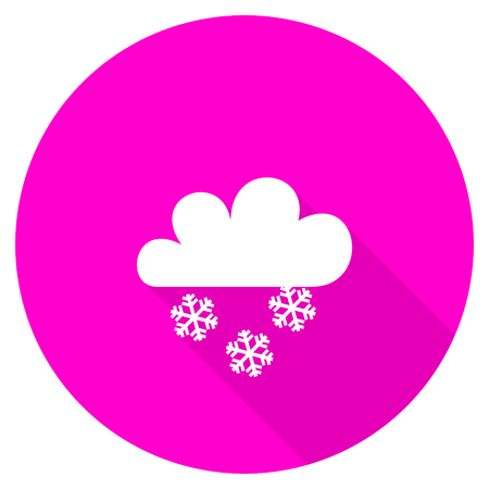 snowing: snowing flat pink icon