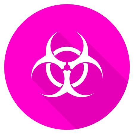 biohazard: biohazard flat pink icon
