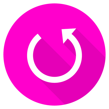 rotate icon: rotate flat pink icon