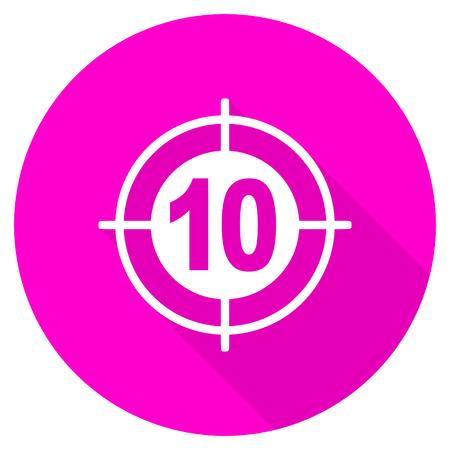 target flat pink icon