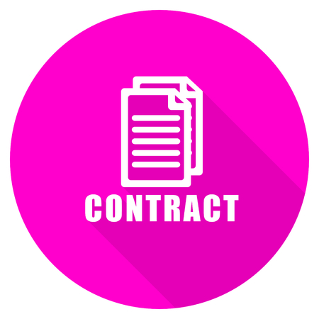 icom: contract flat pink icon