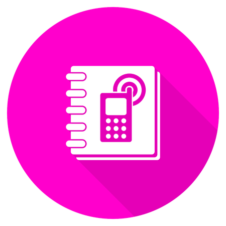 phonebook: phonebook flat pink icon