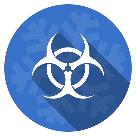 riesgo biologico: biohazard blue flat design christmas winter web icon with snowflake Foto de archivo