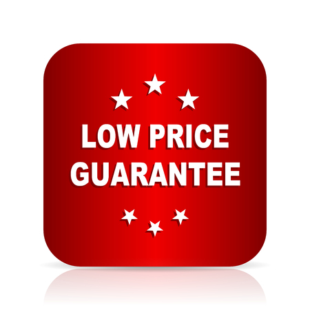 low price: low price guarantee red square modern design icon Stock Photo