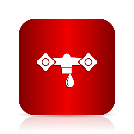 drinkable: water red square modern design icon Stock Photo