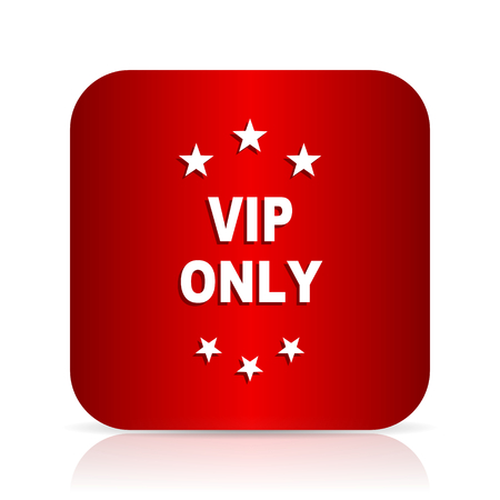 only: vip only red square modern design icon