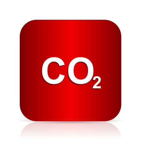 dioxide: carbon dioxide red square modern design icon