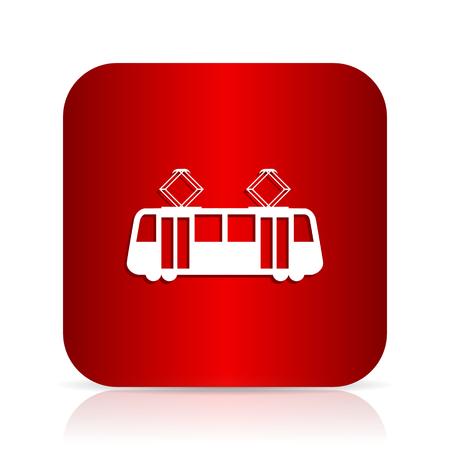 tram red square modern design icon